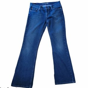 American Eagle Hipster Flare Blue Jeans  Sz 32